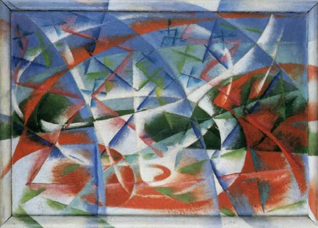 《抽象速度+聲音》, Giacomo Balla。
