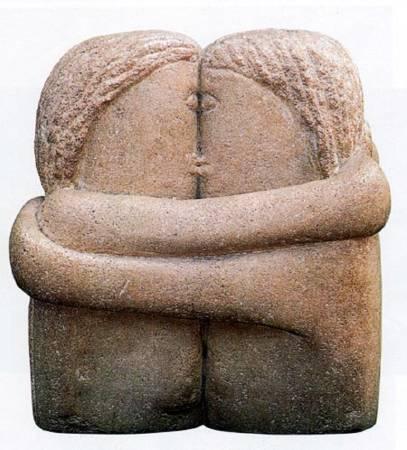 《吻》, Constantin Brancus。