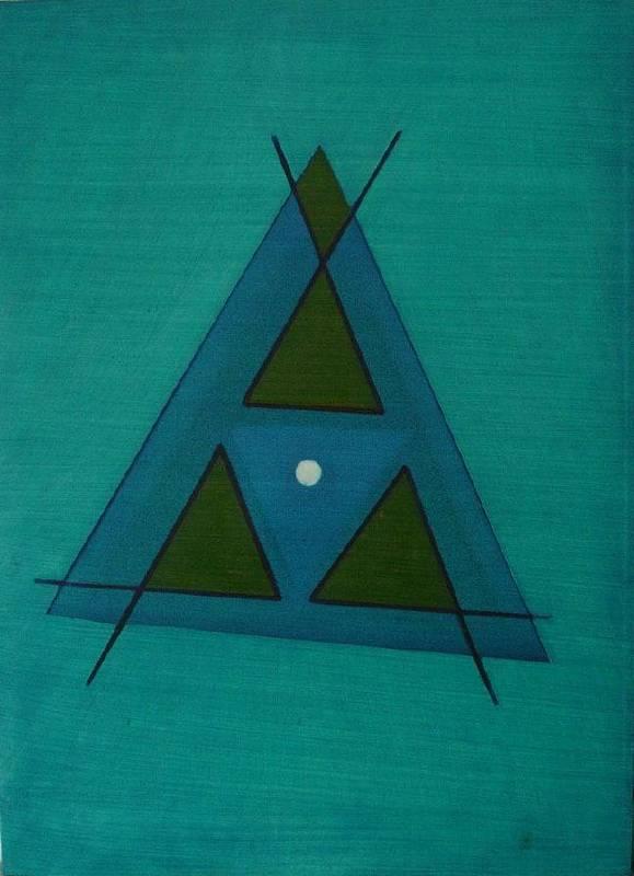 霍剛  無題  油彩畫布  72×52.5cm