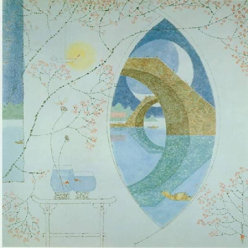 陳其寬  江南夜 石版畫 62x62cm 1988
