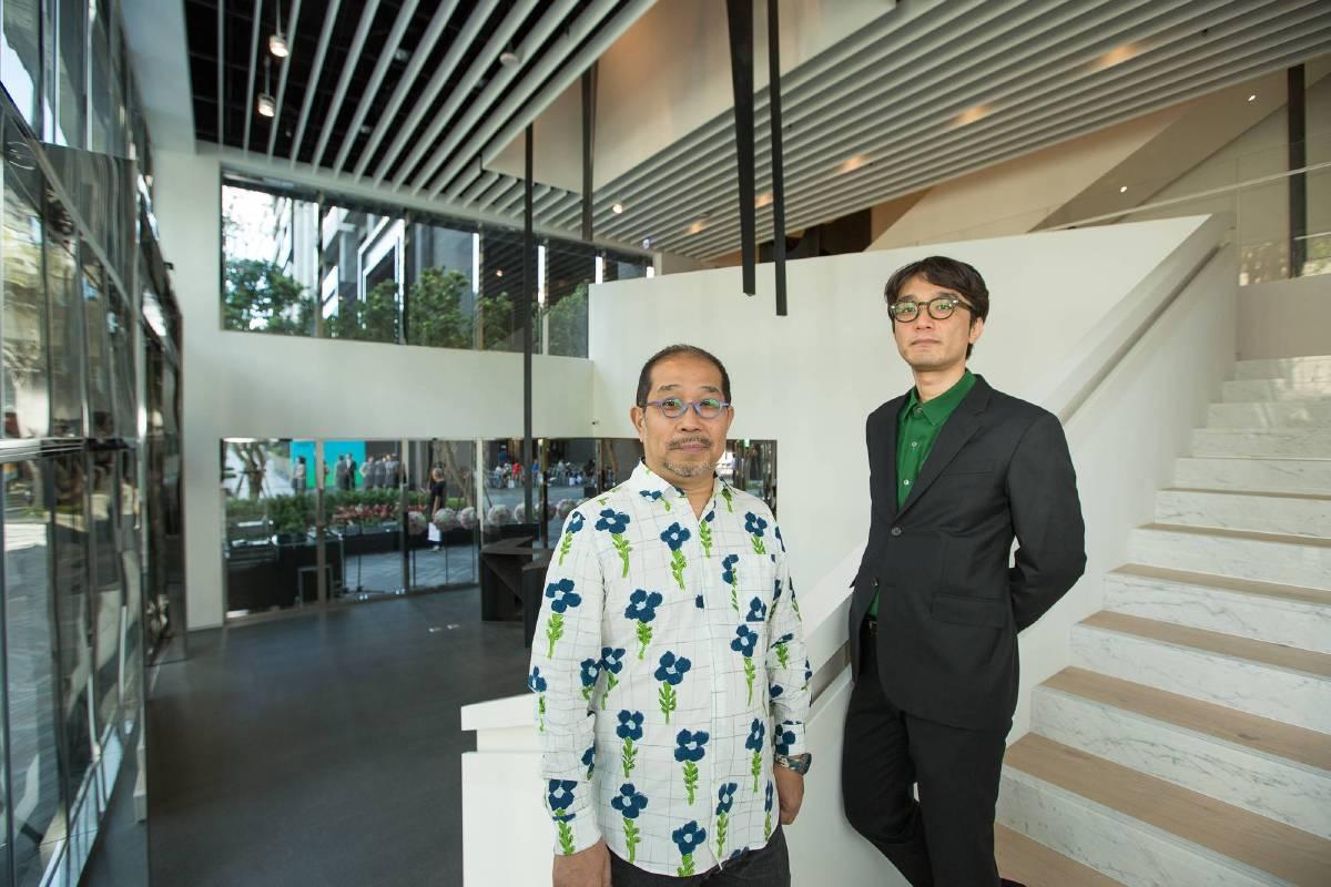 忠泰美術館空間設計師 青木淳(左)、識別系統設計師 菊地敦己