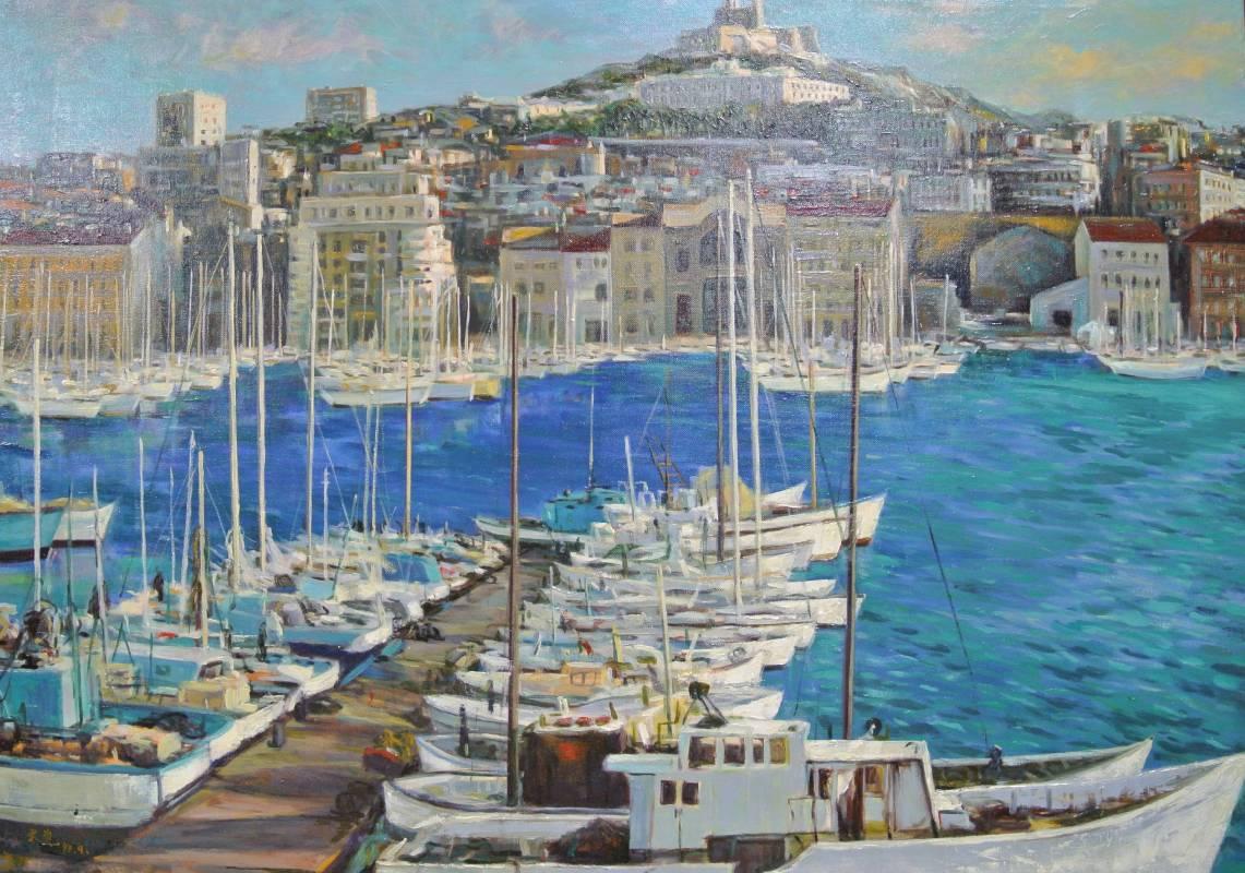 陳文資《  泊 (馬塞) 》  60F   油畫  1993