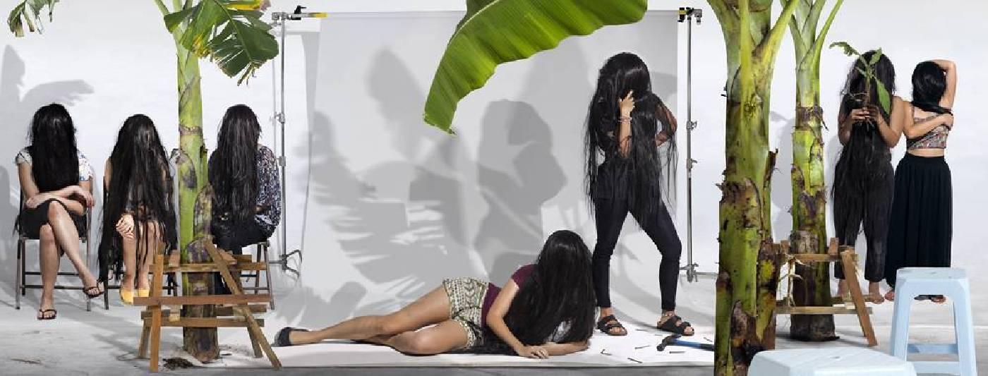 《宛若庭前蕉:風暴中的葉子》 2016 彩色相紙輸出 61 x 160 cm, Edition of 8+1AP
