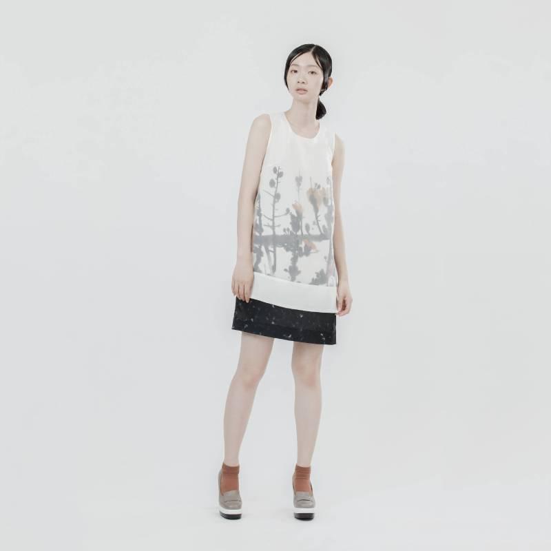 氣韻‧印花洋裝(席德進-木棉花)