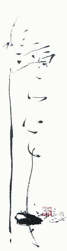 江柏萱 |  水滴石穿  書法  70x18cm   2016