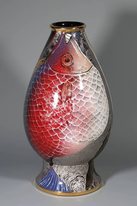 楊企霞 《雙魚呈祥》 2016  高47cm