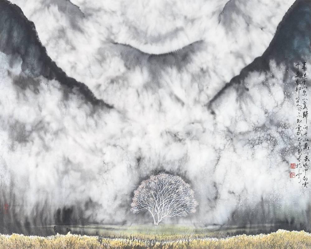楊企霞 《雲嶺山動》 2016  69×69cm