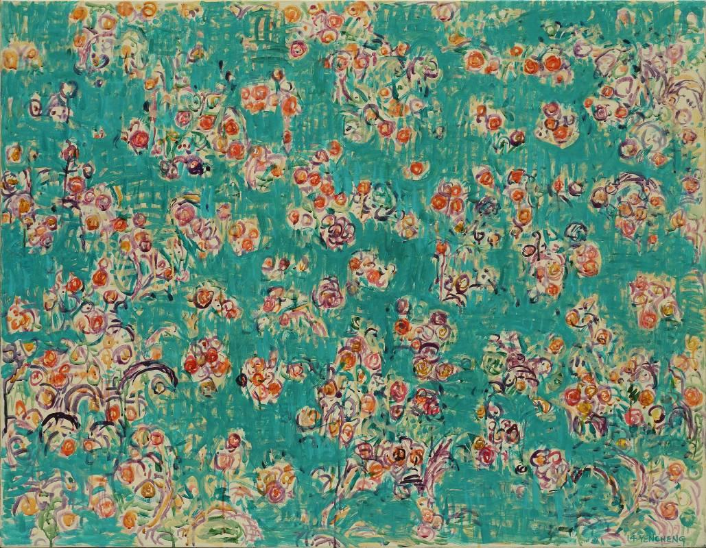 微風花草 Flowers in Breeze---1402