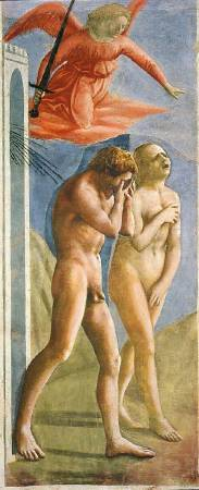 布蘭卡契小堂壁畫《逐出伊甸園》(The Expulsion from the Garden of Eden), 1425