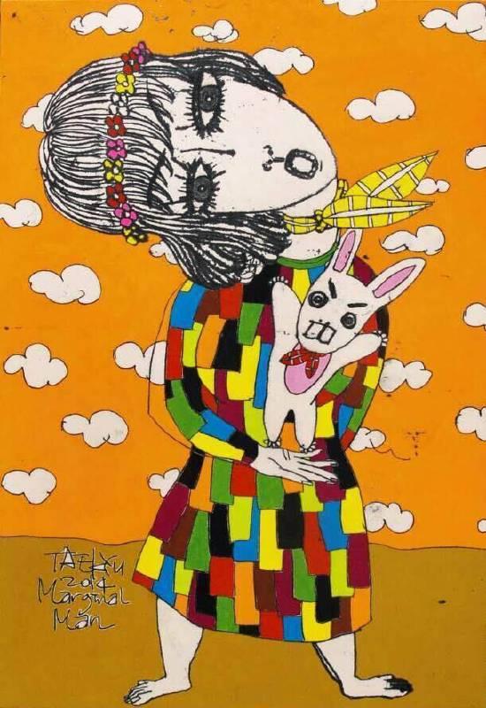任泰奎作品  Marginal Man 79 x 53 cm 韓國畫 Ink,oriental color on korean paper 2014