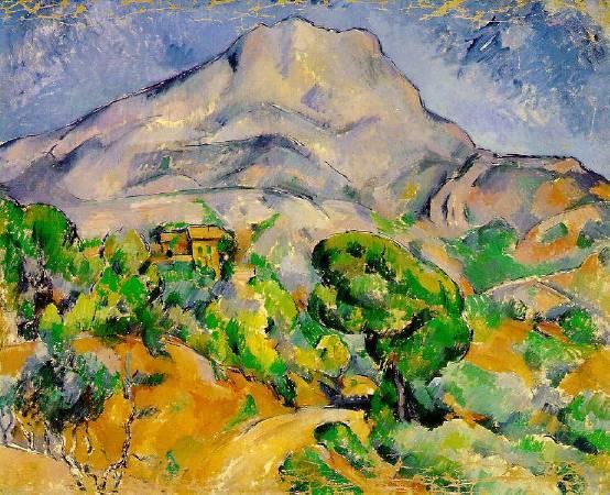 塞尚《聖維克多山》(Mont Sainte-Victoire),1900。圖/取自Wikipedia。