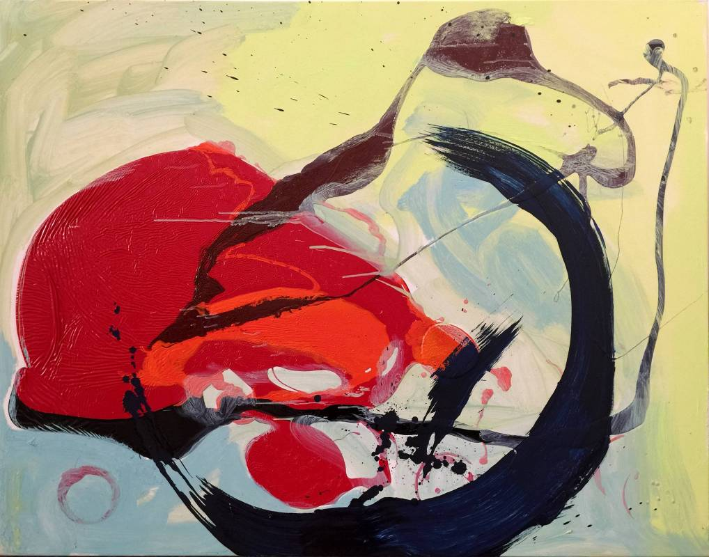 2013不確定的思索 90X116cm (50F) 油畫