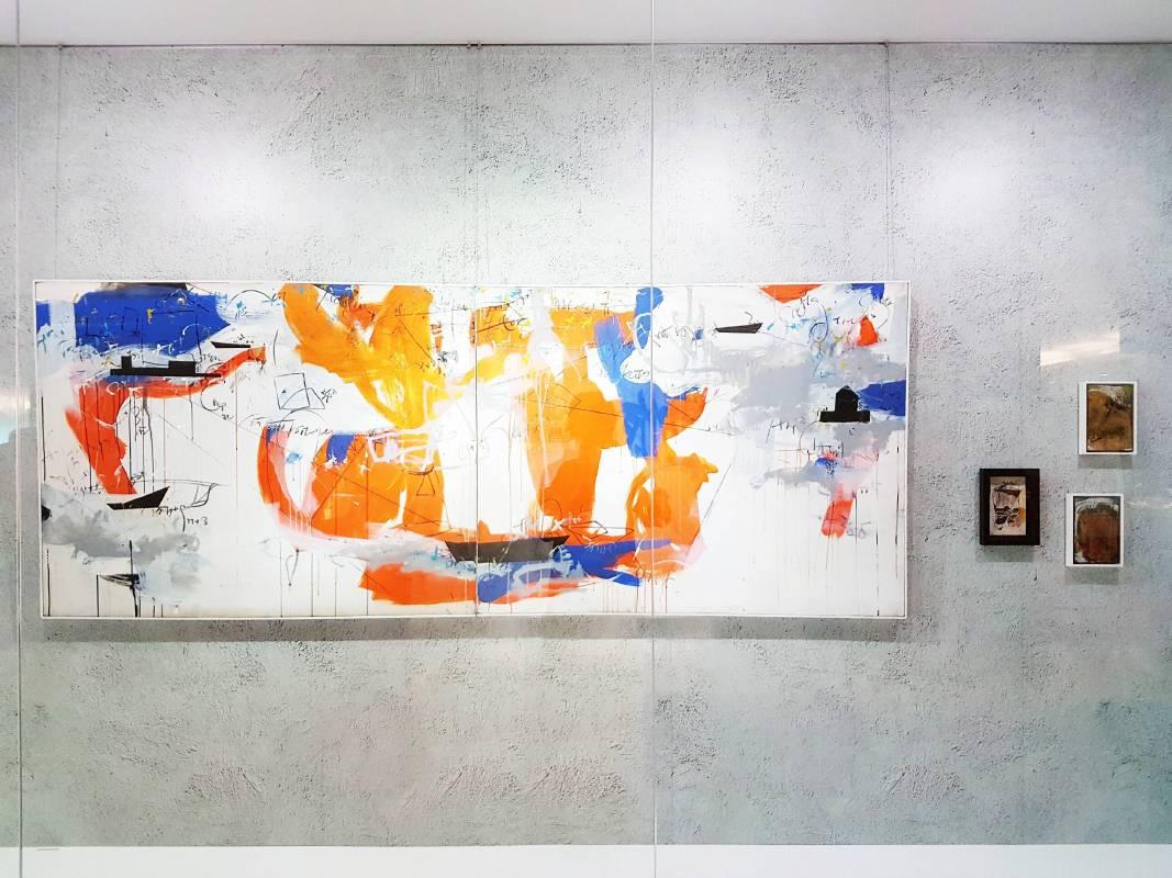 中友時尚藝廊展出作品「旅行文件」、「旅行日記」系列