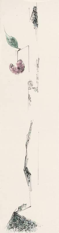 許雨仁《彩墨系列之三十九》 136×34cm 2011 彩墨、紙