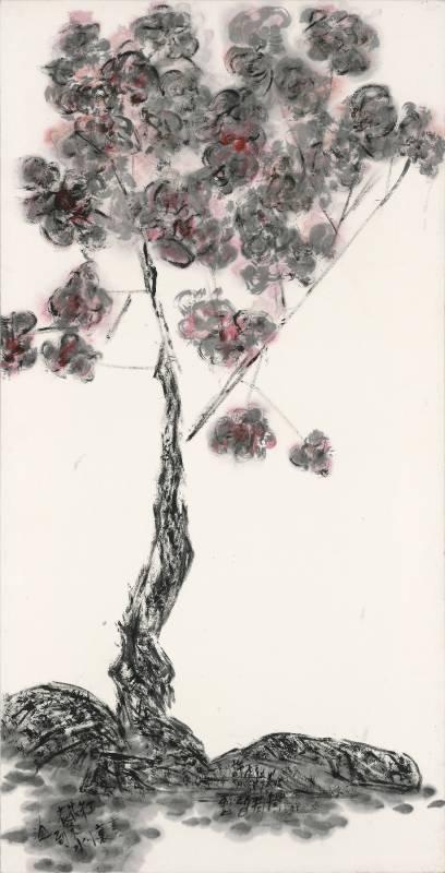 許雨仁《彩墨系列之三十一》 138×70cm 2015 彩墨、紙