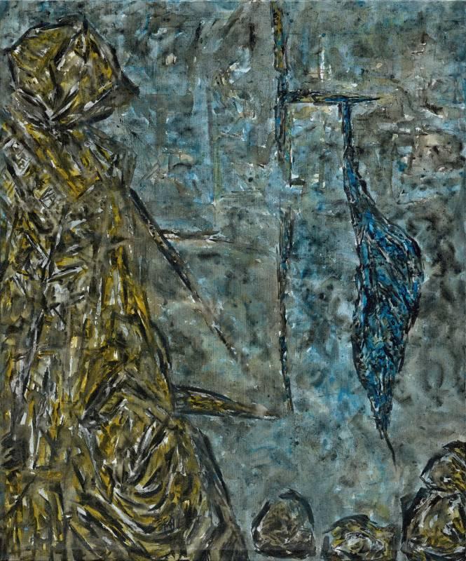 許雨仁《彩筆系列之十三》 89×75cm 2016 複合媒材、畫布
