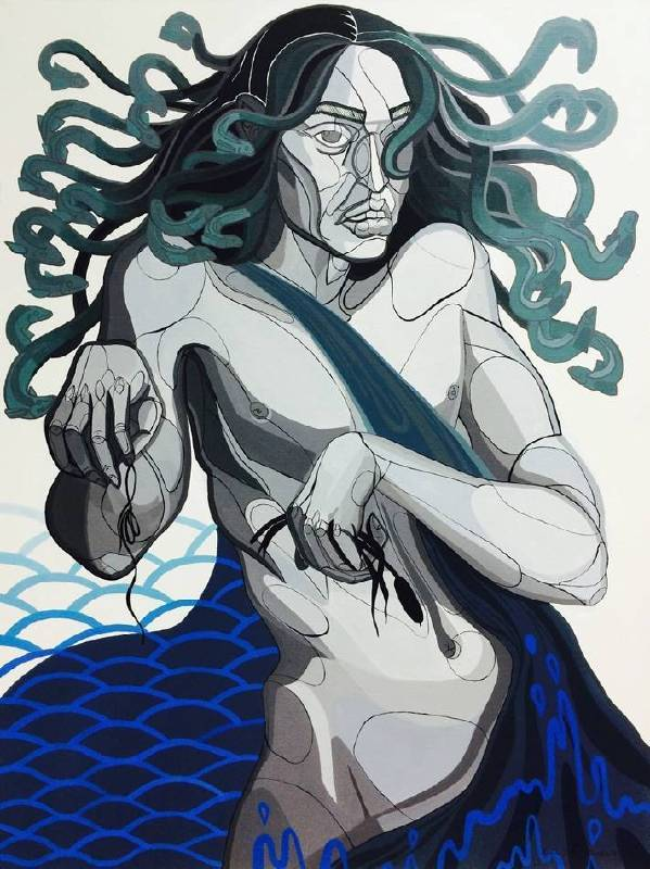 Zofia Pałucha (ZOZO)《Aquarius》Acrylic on Canvas 60×80cm 2016波蘭