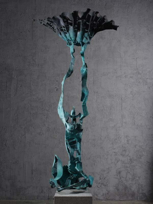一線天 Skein of Heaven 150x100x310cm,Bronze,2016