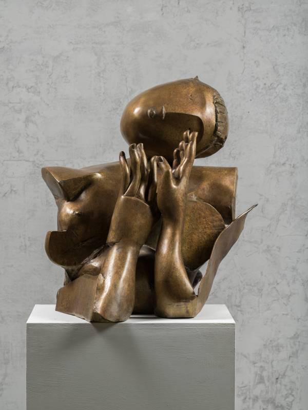 胸像 Woman's Bust 56x46x70cm,Bronze,2016