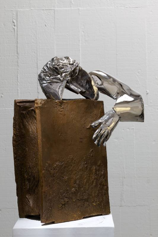 書伴  The Book Lover 40x17x47cm,Bronze,2013