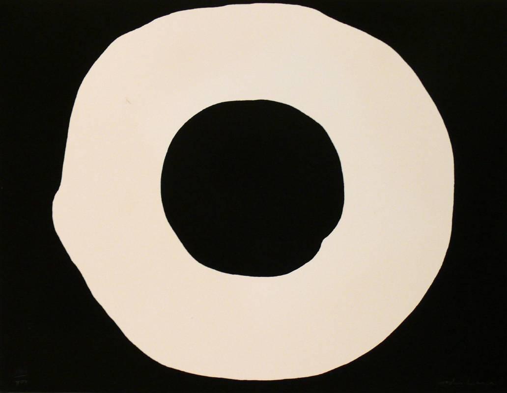 吉原治良Jiro Yoshihara_Circle_screen print_44.2 x 57 cm_1968