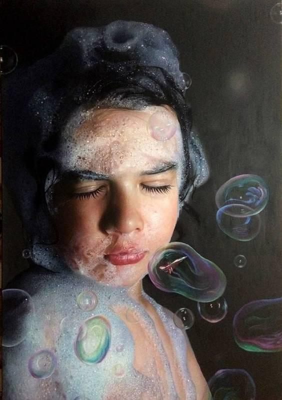 Mustafa Yuce《Child & Play Serial / The Moon》Oil on Canvas140×200cm 2016土耳其