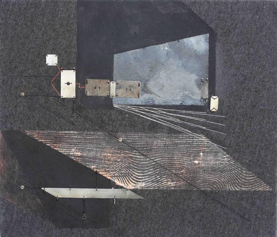 漂泊廣場之二 Adrift Space No.2 45.5 x 53 cm 複合媒材Mixed Media 2016