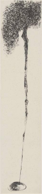 《粗筆系列之十》53x234cm(13才) 2007 水墨
