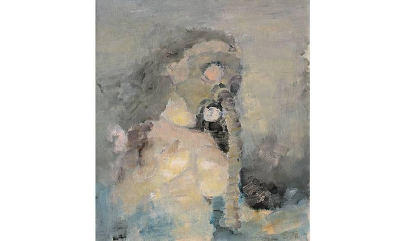 邱軍Qiu Jun・呼吸5Breathing5・油彩畫布Oil on canvas・80x70cm・2011