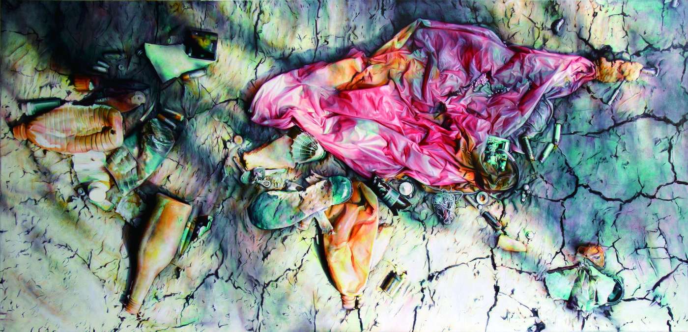 黃敏俊 Huang Ming Chun,世界地圖 The World Map 150×300cm 布面油畫 Oil on Canvas 2016