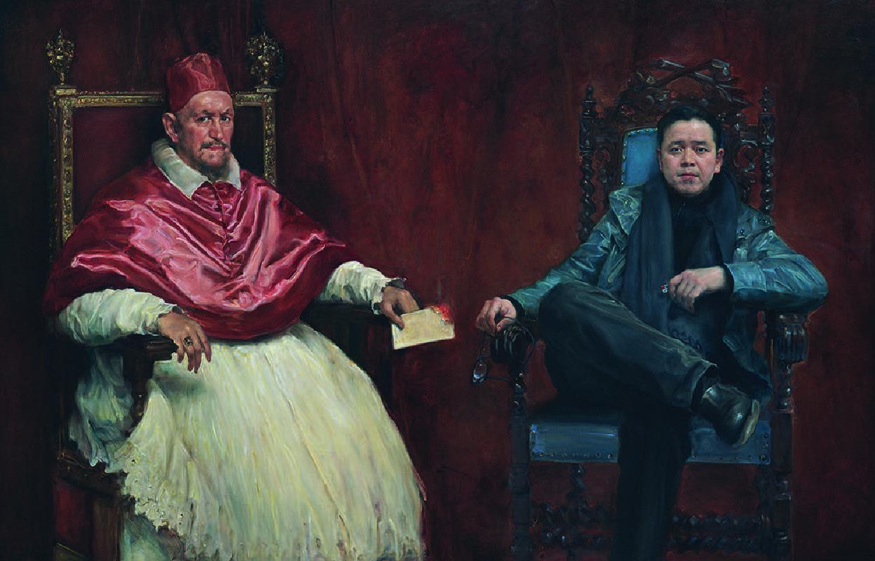 委拉斯贵兹的客厅 180x280cm 布面油画 2017(The Living Room of Diego Velázquez  180x280cm Oil on canvas 2017)