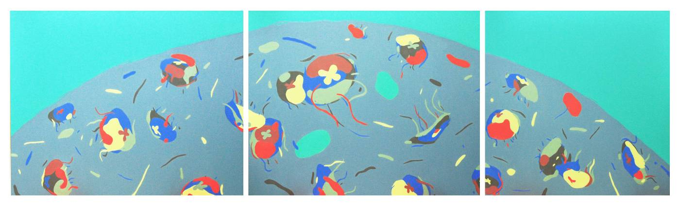 陳怡如-Jellyfish ball-2016-油彩、畫布-30FX2 20FX1