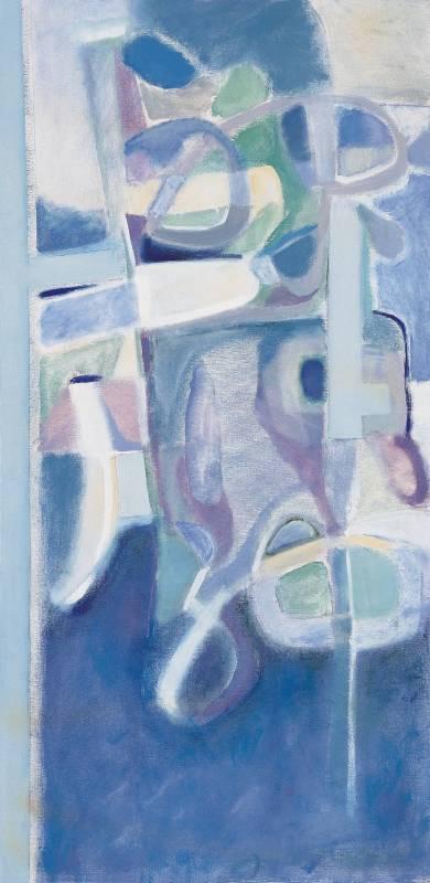 王陳靜文 天人合一 油畫 1978年 墨海樓國際藝術研究機構提供