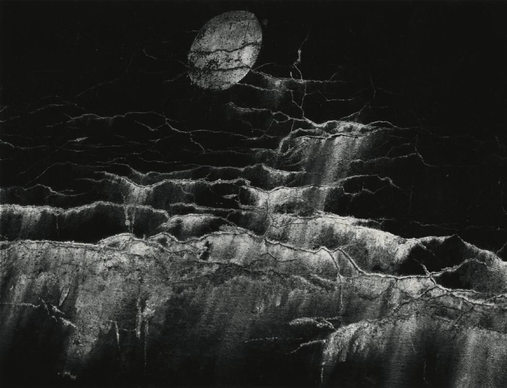 Moon and Wall Encrustation, Pultneyville, NY, May 10, 1964