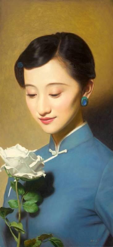 《大民國-你不會輕視我的愛情》  130X60CM  2015 Oil on Canvas