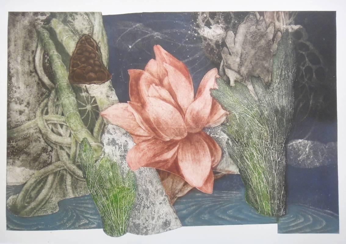 高春英 Kao Chun Ying・夏日風情・砂紙凹版Intaglio Plate・50x73cm・2017