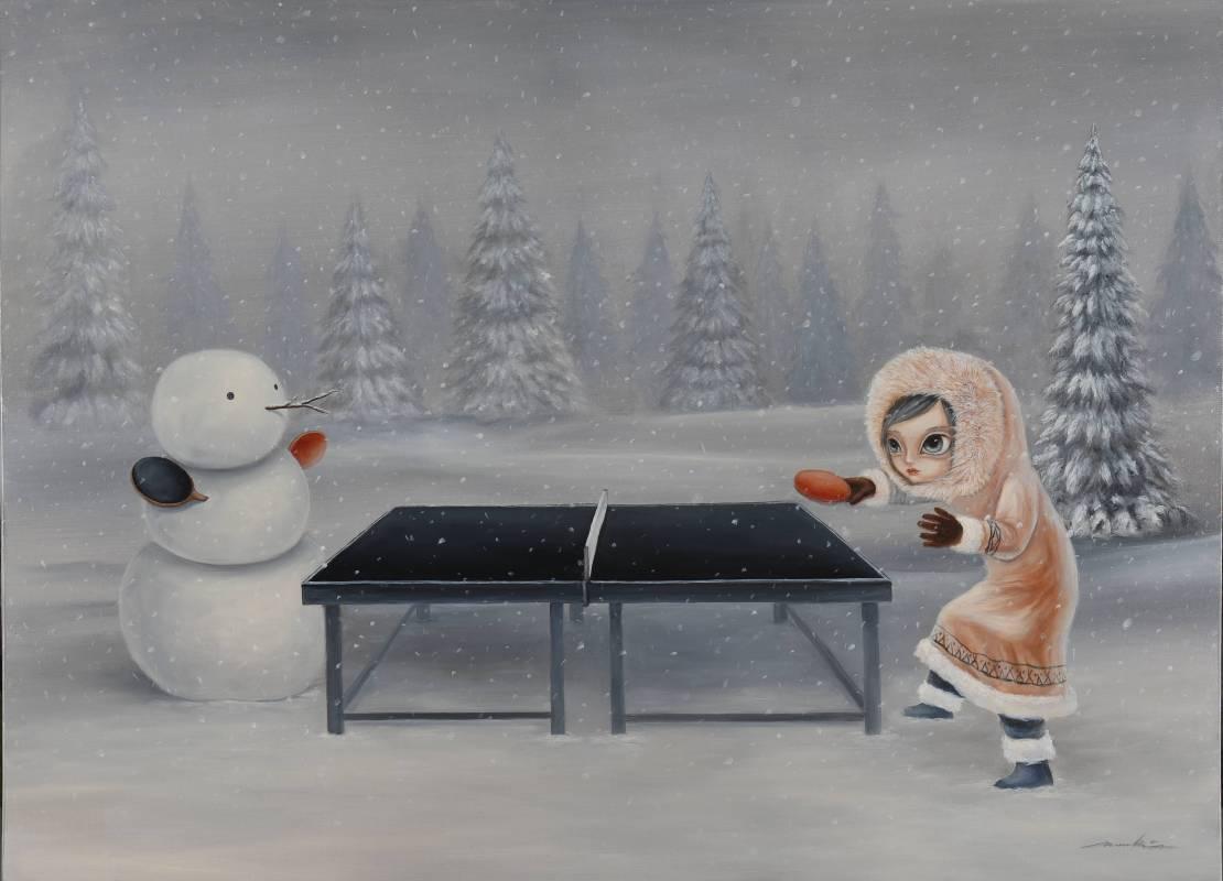 四季冬,王立偉,油畫,100x72.5cm,2016