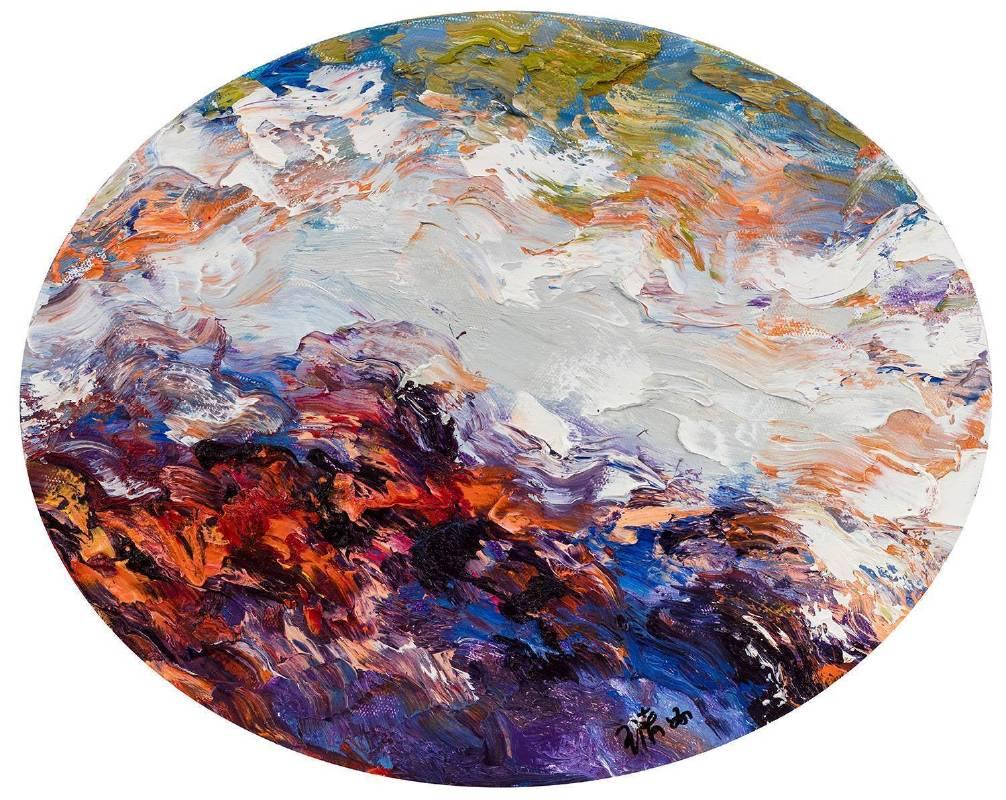 2016布面油畫40x50cm高致