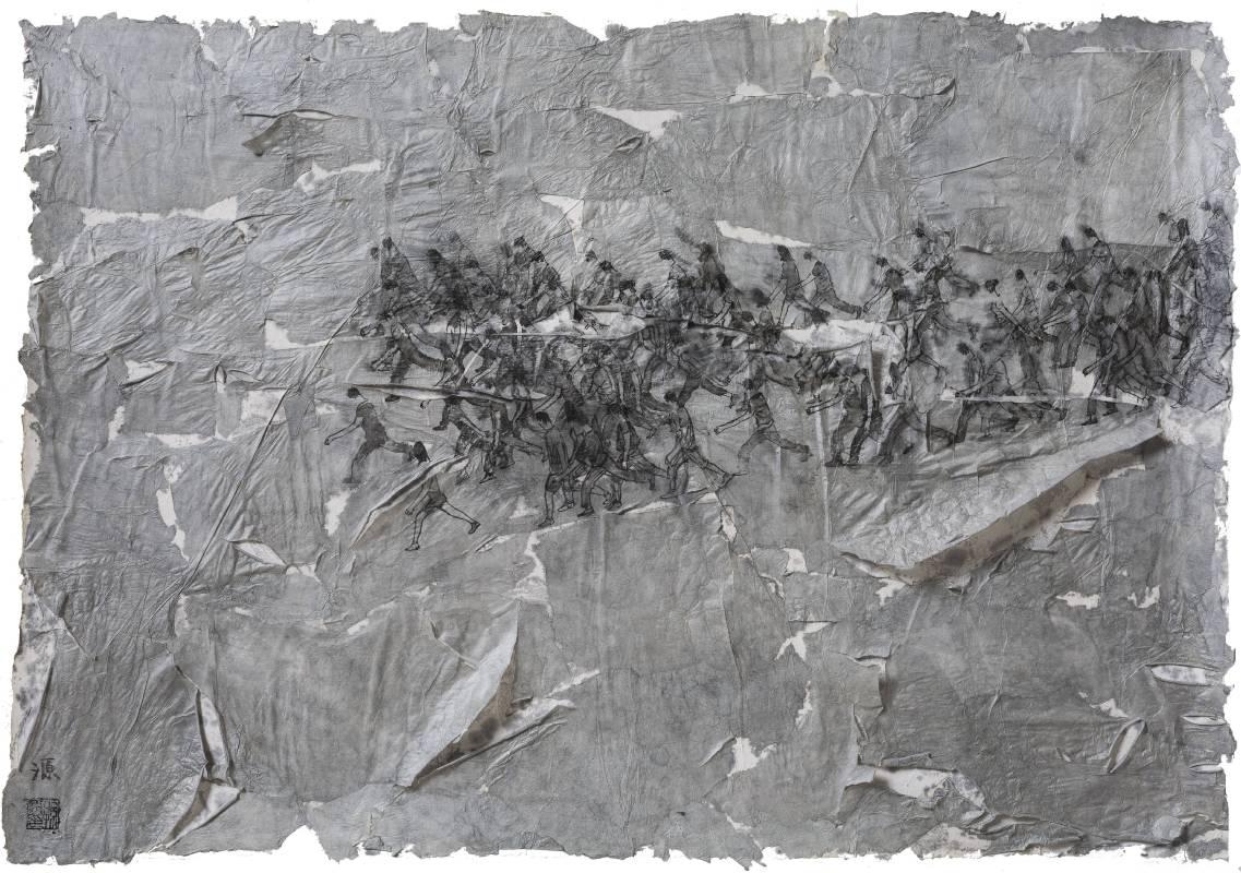 孫源《群体的寓言no55》 75X51cm  水墨纸本  2017