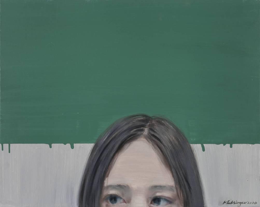 綠牆 Green Wall 50 x 40cm 布面油畫 Oil on Canvas 2014