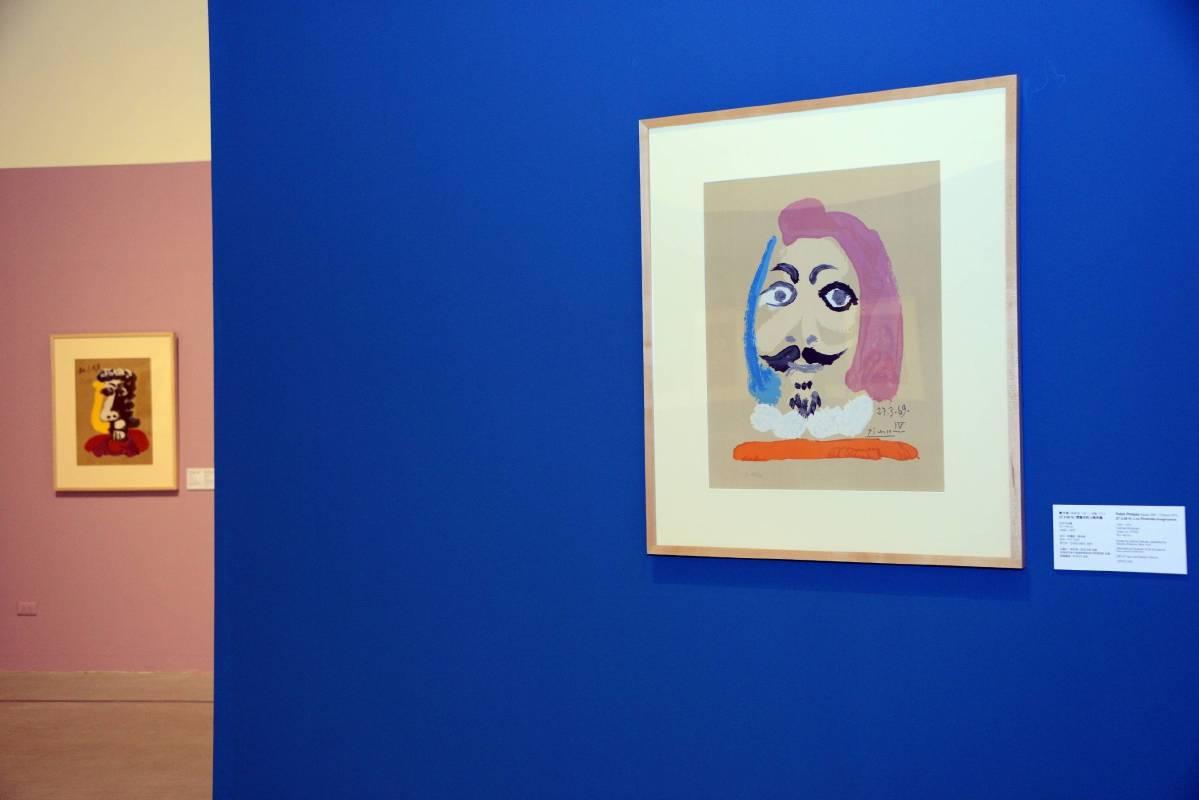 國美館「畢卡索:想像中的人物肖像」展場。圖/國立臺灣美術館提供。
