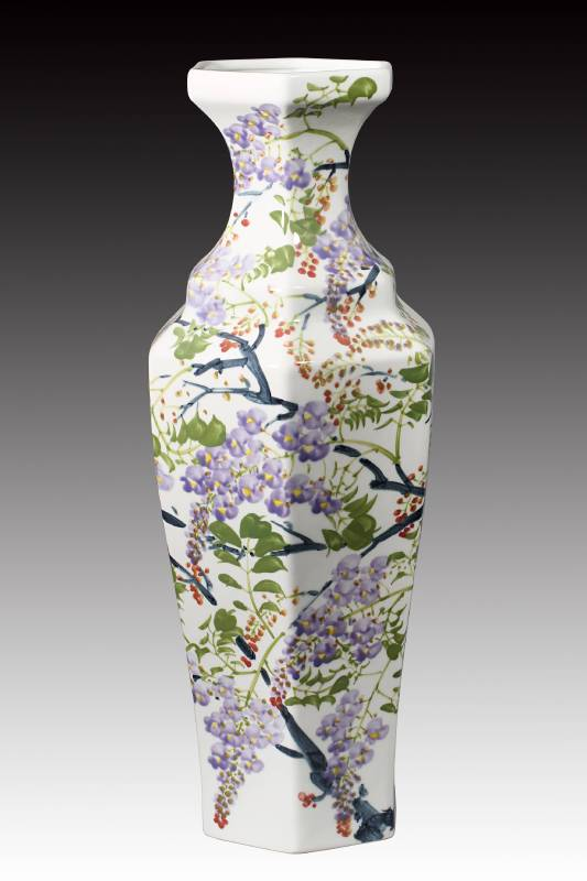陳士侯 《紫藤造型瓶》 2017  高48公分