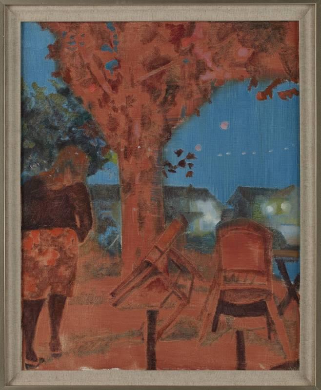 《酒吧夜色之二 Color of The Night No.2》布面油畫  Oil on canvas 50x40cm 2015