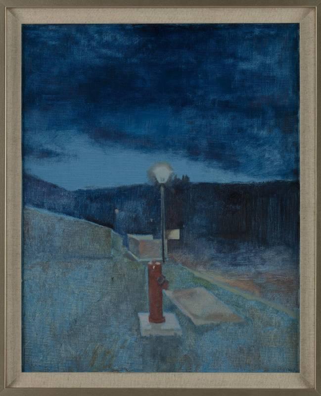 《酒吧夜色之四 Color of The Night No.4》布面油畫 Oil on canvas 50x40cm 2015