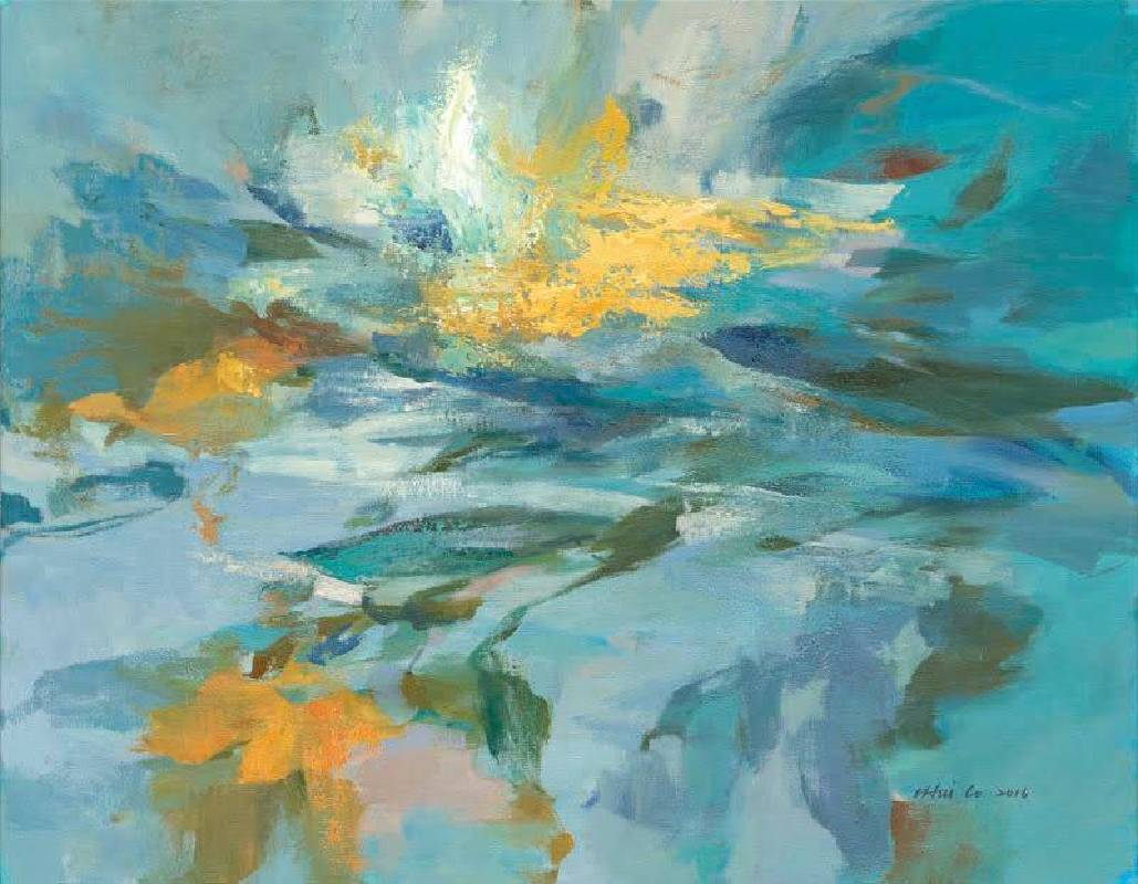 羅一慧 Lo I Hui ,霞韻  Afterglow , 45×60.5cm ,  油彩.畫布 , 2017