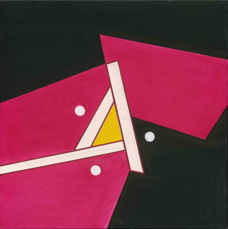 霍剛, 抽象 2017-5, 100x100cm, 2017, Oil on Canvas