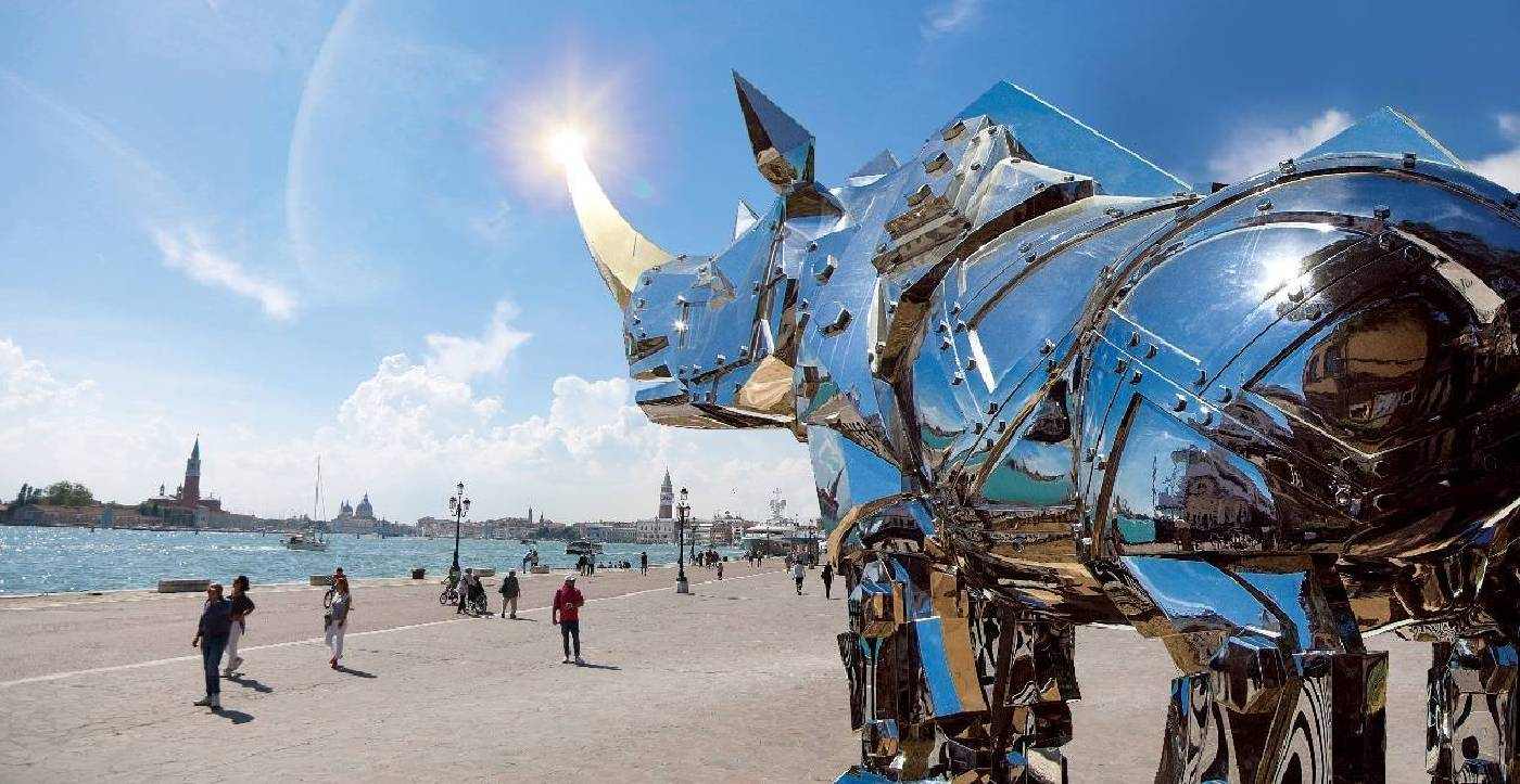 金鋼犀牛展於瑪麗雷瑞莎公園