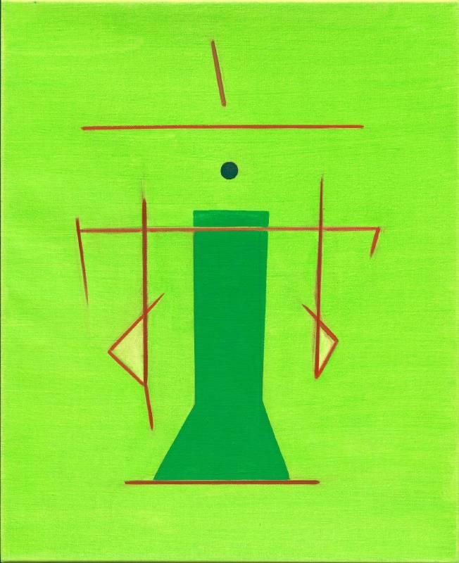 霍剛  抽象2014-008--65x53cm-油彩、畫布 2014