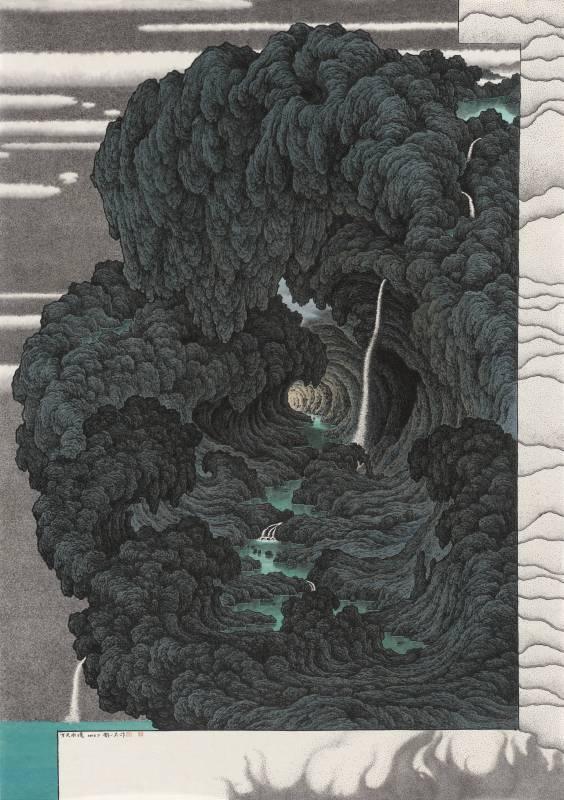 鄧卜君-方天水境-105x74cm-紙上水墨-2016
