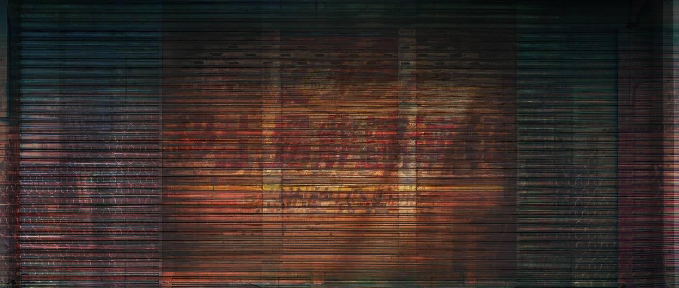 余梓勤Yu Tzu Chin・鐵門01 Overhead door 01・140 x 60 cm・攝影噴墨・2016